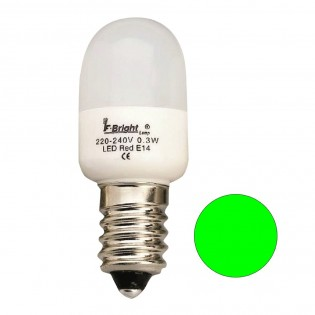 Bombilla LED Pebetera Mini Verde E14 (0.3W)