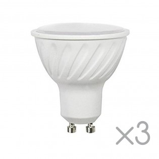 Pack 3 Bombillas LED GU10 6.2 W (Luz fría)