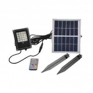 Proyector LED con panel solar Colorful (10W)