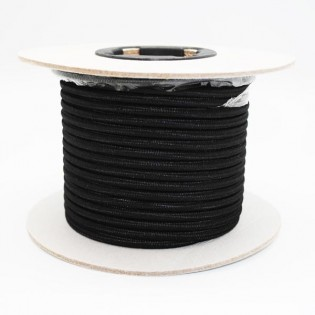 Rollo cable textil negro