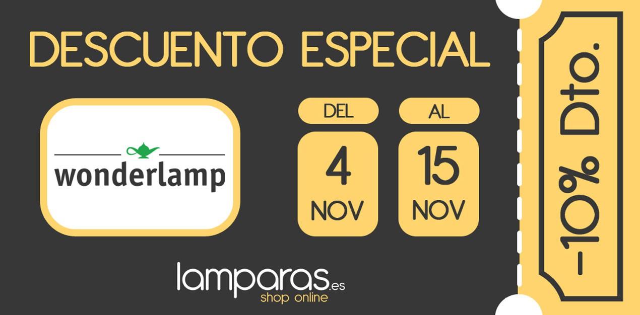 Descuento especial -10% Wonderlamp - Lamparas.es